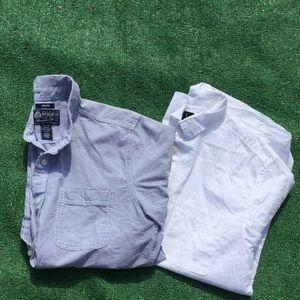 Button Up Men's Business Casual Shirts Bundle Lot